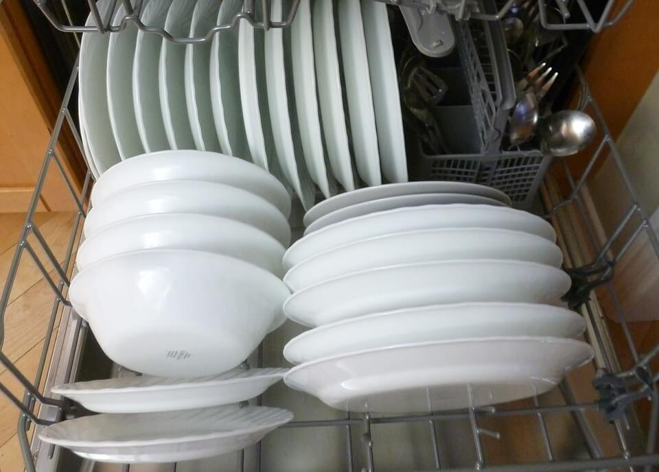 get rid of white film on dishes in dishwasher