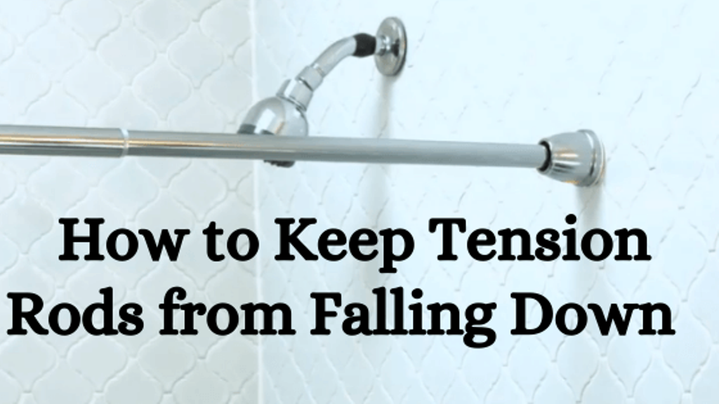 How to Keep Tension Rods from Falling Down or Slipping   Organized